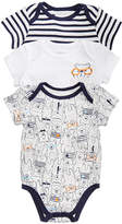 First Impressions 3-Pack Printed Cotton Bodysuits, Baby Boys, Created for Macy's