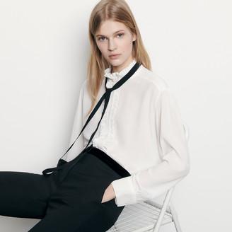 Sandro Silk blouse with ribbon