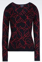 Armani Jeans Heart Print Sweater