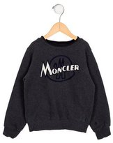 Moncler Boys' Embroidered Crew Neck Sweatshirt