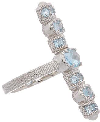 Judith Ripka Mardi Gras Silver 2.76 Ct. Tw. Top Sky Blue Topaz Ring