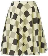 Nina Ricci geometric print circle skirt
