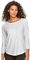 Dana Buchman Women's Mitered-Stripe Scoopneck Sweater