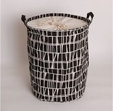 shopinmall Pop-Up Polyester Hamper with Drawstring Closure/Pop-Open Laundry Hamper pattern