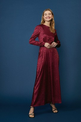 Coast Satin Long Sleeve Maxi Dress