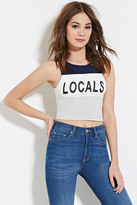 Forever 21 Locals Graphic Crop Top