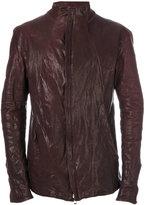 Incarnation - zipped biker jacket - men - Cotton/Horse Leather/Polyamide - L