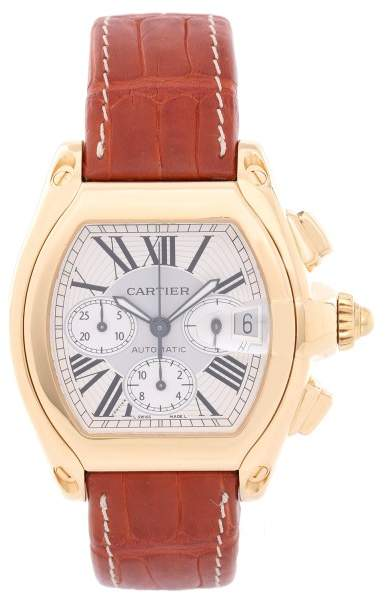Cartier Roadster W62021Y3 18K Yellow Gold Automatic 43mm Mens Watch