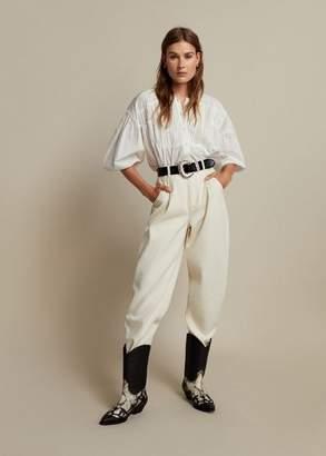 MANGO Leather cowboy ankle boots black - 6 - Women