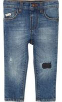 River Island Mini boys blue ripped Sid skinny jeans