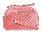 Dorothy Perkins Womens Pink Velvet Camera Bag- Pink