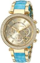 Michael Kors Women's MK6364 'Parker' Chronograph Crystal Two-Tone Stainless steel and Acetate Watch