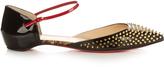 Christian Louboutin Baiea spike patent-leather flats