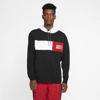 Jordan Retro 11 Hoodie Sweatshirt - Black / White Gym Red
