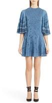 Valentino Women's Jungle Print Silk Flutter Sleeve Dress