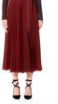 Carolina Herrera Pleated Wrap Midi Skirt