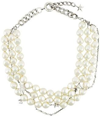 Ermanno Scervino pearl and rhinestone necklace