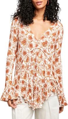 Free People Olivia Print Long Sleeve Tunic
