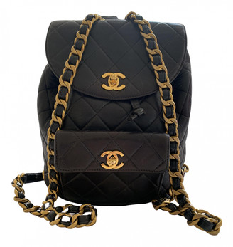 Chanel Duma Black Leather Backpacks