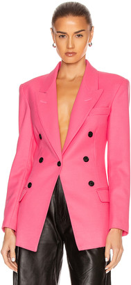 Smythe Not a DB Blazer in Shocking Pink | FWRD