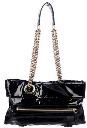 9f597043ba2 Patent Leather Chain Hobo