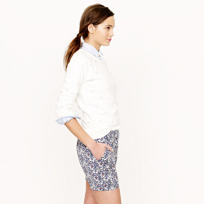 """J.Crew Liberty 5"""" chino short in June's Meadow floral"""