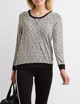 Charlotte Russe Hacci Ringer Sweatshirt