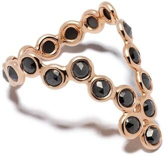 Lito 18kt rose gold Hive triangle diamond ring