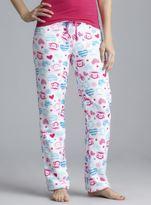 Paul Frank White Plush Pajama Pants