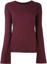 MM6 MAISON MARGIELA ribbed-knit top - women - Spandex/Elastane/Modal - S