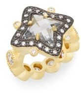 Freida Rothman Pavé Two-Tone Star Ring