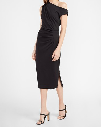 Express Off The Shoulder Ruched Sheath Dress