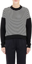08sircus WOMEN'S STRIPED DROP-SHOULDER SWEATER SIZE 0