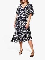 Studio 8 Elsa Floral Print Midi Dress, Navy/Ivory