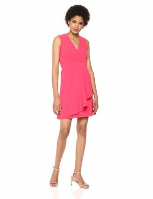 Taylor Dresses Women's Sleeveless Knot Ruffle Front Dress