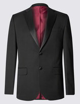 Marks And Spencer Big And Tall Black Regular Fit Tuxedo Suit