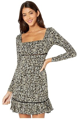 Free People Boheme Mini Dress (Black) Women's Dress