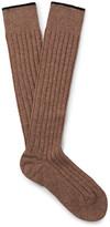 Brunello Cucinelli Mélange Cashmere Over-the-calf Socks - Tan