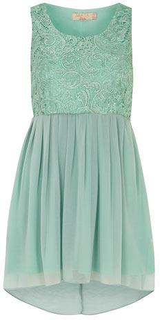 Dorothy Perkins Mint lace contrast dress