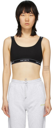 Carhartt Work In Progress Black Logo Sports Bra