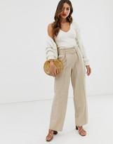 Y.A.S wide leg pants with belt detail