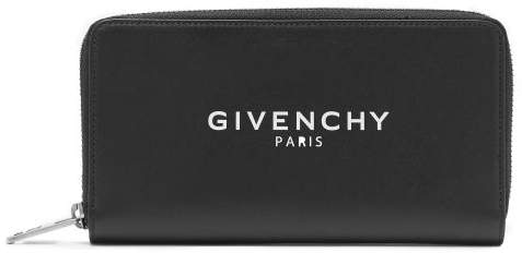 Givenchy Zip Around Leather Wallet - Mens - Black