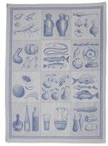 """Sur La Table Food Jacquard Kitchen Towel FOOD , 23"""" x 38"""" , Blue"""