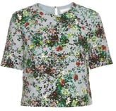 Erdem Juana Field Flower-print short-sleeved top