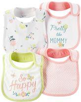 Carter's Baby Girl 4-pk. Floral & Geometric Bibs