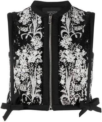 Giambattista Valli Floral Embroidered Cropped Waistcoat