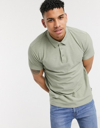 ONLY & SONS polo in texture green