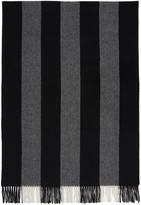 Acne Studios Black and White Canada Bengal Scarf