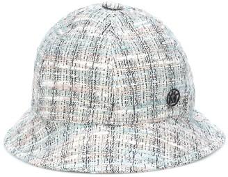 Maison Michel Mara checked tweed hat