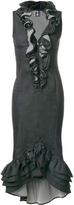Jean Paul Gaultier Pre-Owned embellished ruffle dress